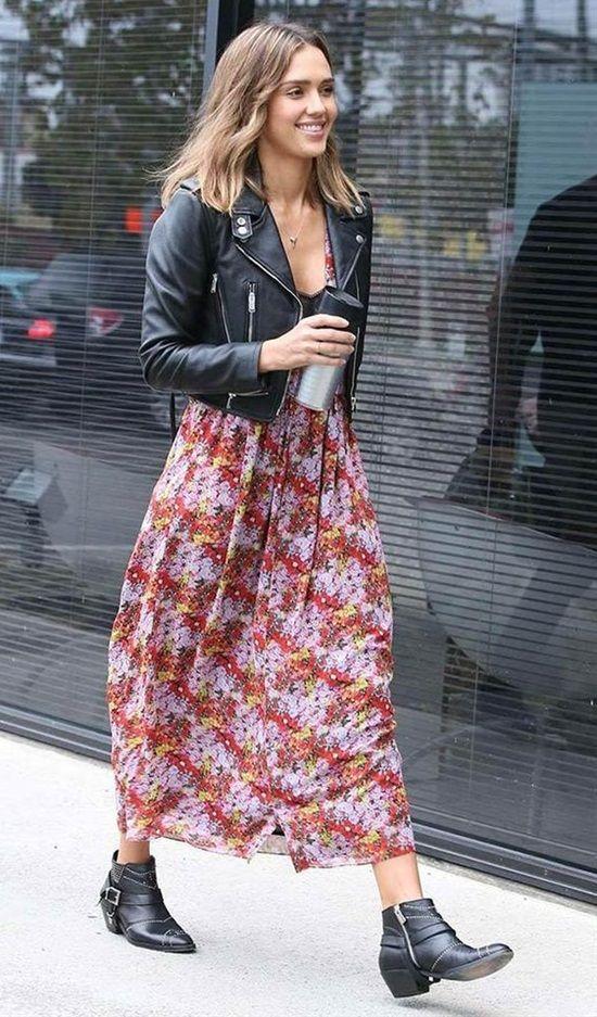 stilvolle Möglichkeiten, Stiefeletten richtig zu tragen #leatherjacketoutfit