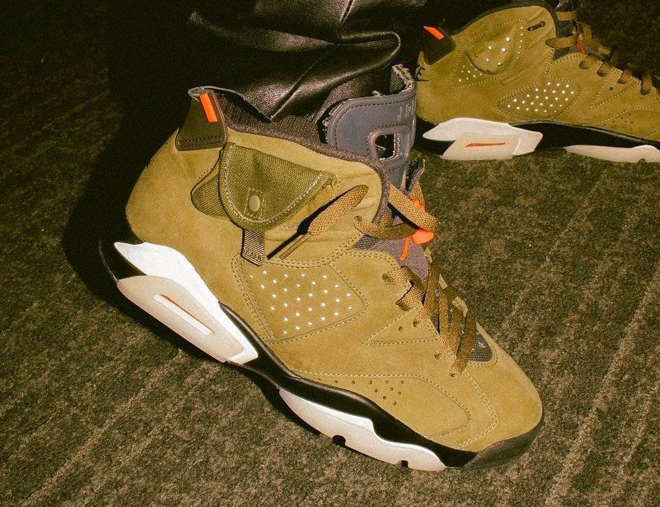 low priced 96810 a0fa0 Travis Scott Air Jordan 6 Medium Olive Cactus Jack Release Date - SBD
