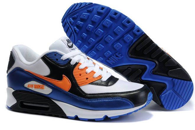 reputable site f0973 fc179 Mens Air Max 90 White Bright Mandarin Black
