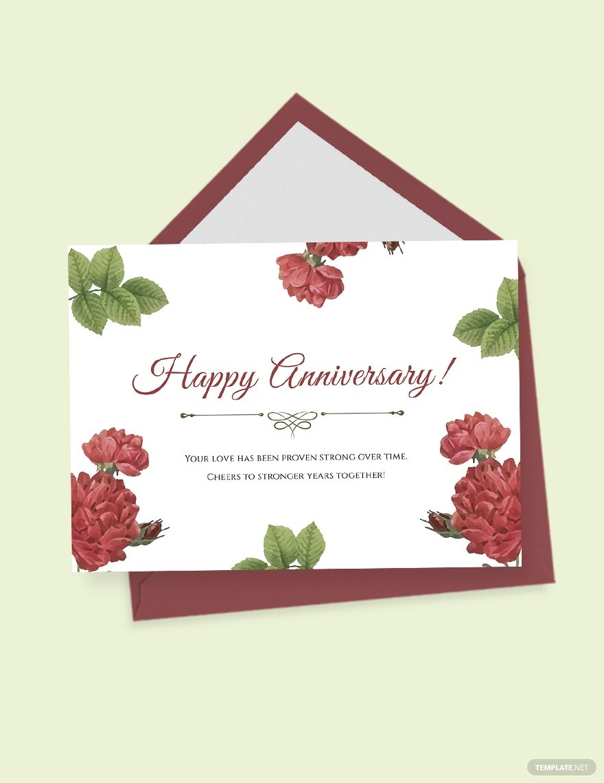 Marriage Anniversary Card Template Free Pdf Word Psd Apple Pages Illustrator Publisher Marriage Anniversary Cards Anniversary Cards Marriage Anniversary