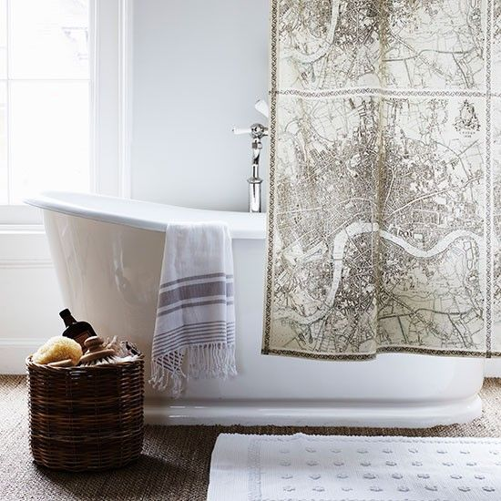 Have Fun With Shower Curtains We Love This Map Design