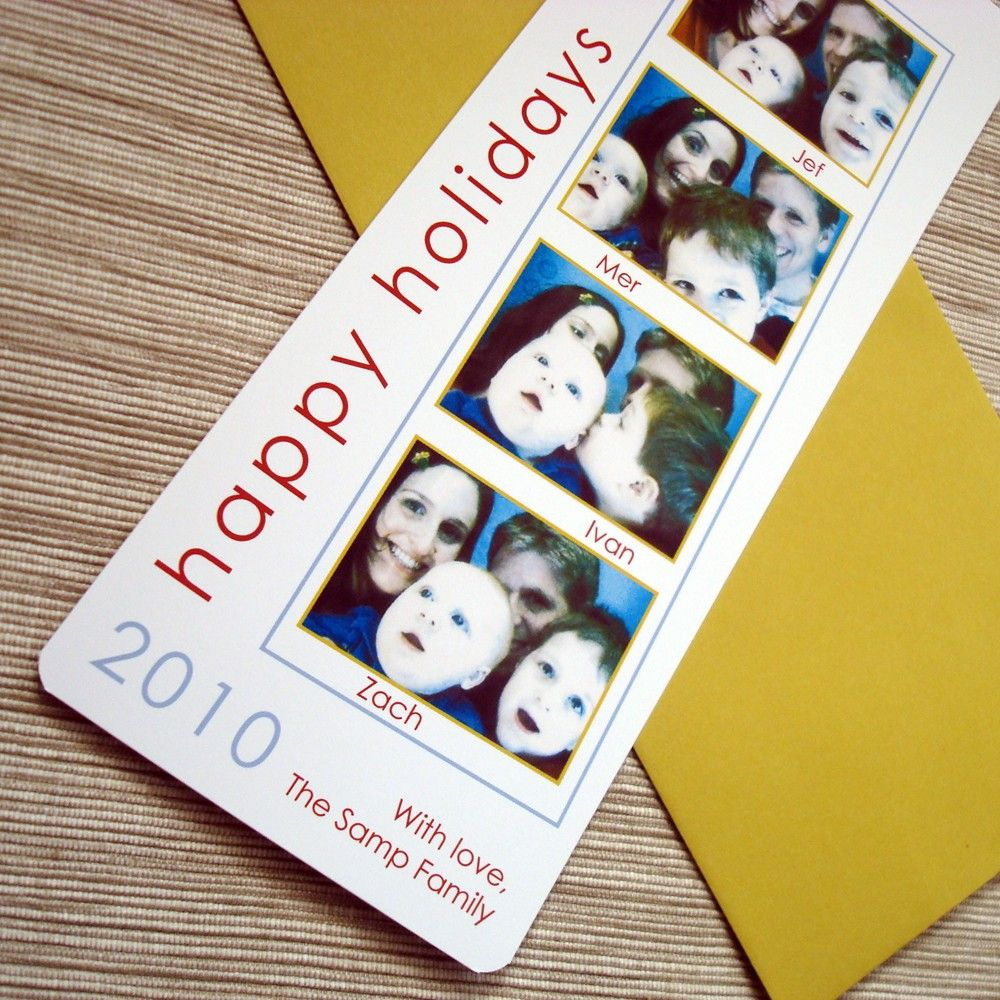 Photobooth christmas card custom film strip family children holiday photo christmas card photobooth film strip holiday greeting bookmark kristyandbryce Images