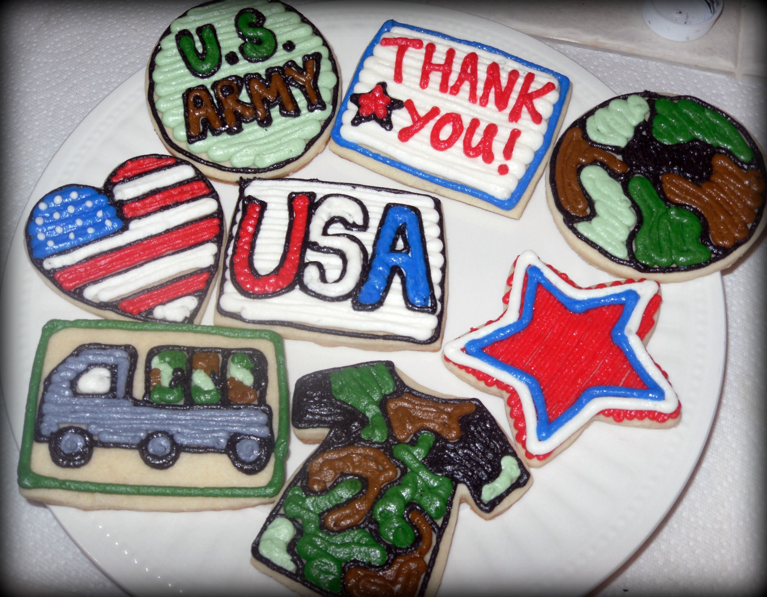Army Cookies For Veterans Day