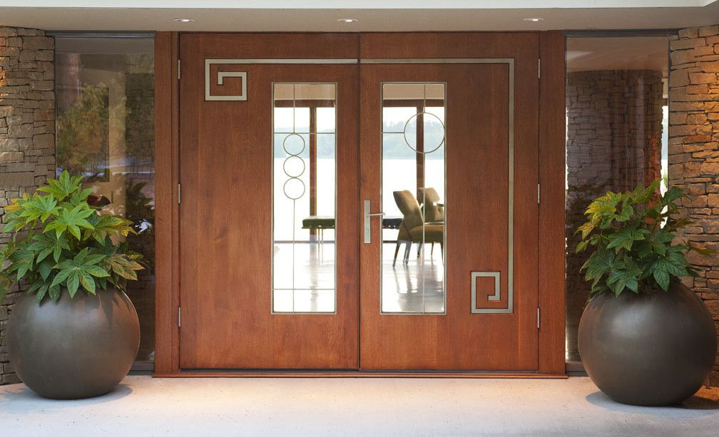 Frank Lloyd Wright Inspired Lake House By Mary Anne Smiley 2 Custom Front Doors Frank Lloyd Wright Front Door Design