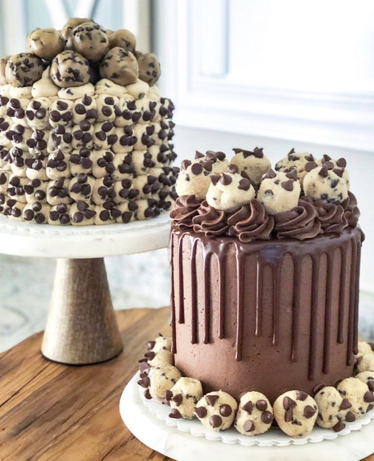 Chocolate Chip Cookie Dough Cake #chocolatechipcookiedough