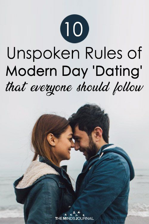 The unspoken rules of dating