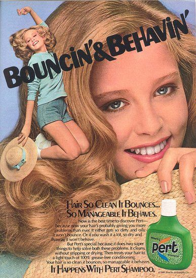"""Bouncin' and Behavin'.""See more vintage beauty ads here:"