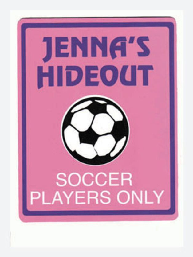 Personalized GIRLS SOCCER Bedroom Door SIGN I Need This
