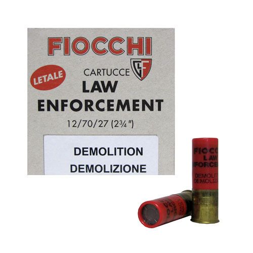 5rds 12 gauge fiocchi demolition door lock breaching for 12 ga door breaching rounds