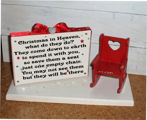 Christmas In Heaven Poem With Chair Printable.Pin On Ornaments