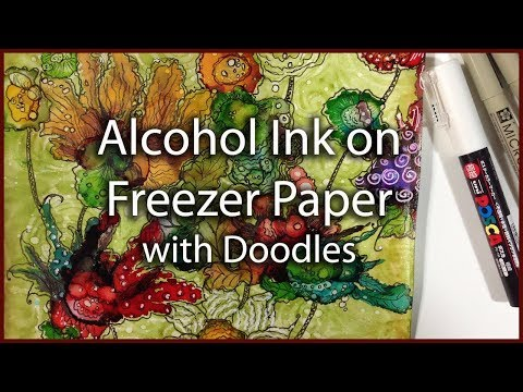 Alcohol Ink on Freezer Paper? YES!