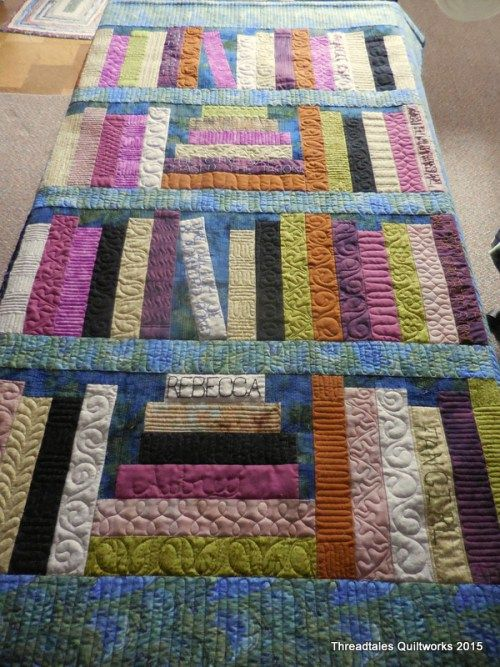 Aubrey's Bookshelf quilt - Pattern name Come Quilt with Me from the Moda Bakeshop