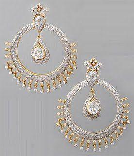 Modern Jewellery Designs Bridal Earrings Chaand Balis