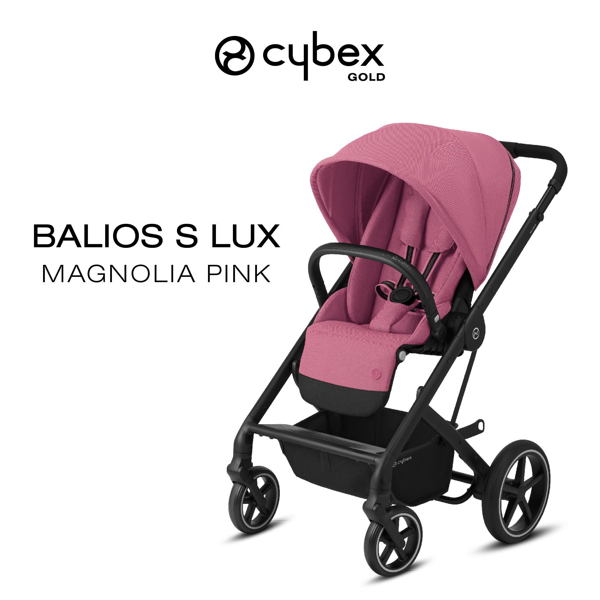 Stroller Black Cybex Balios S Pushchair Buggy Adaptor Clips For Car Seat