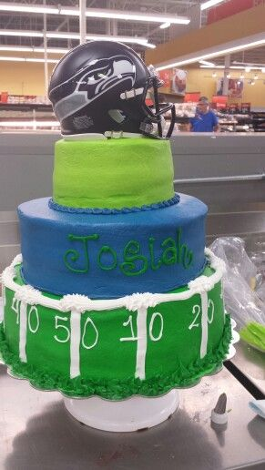 Three Tier Custom Cake Order Football Walmart