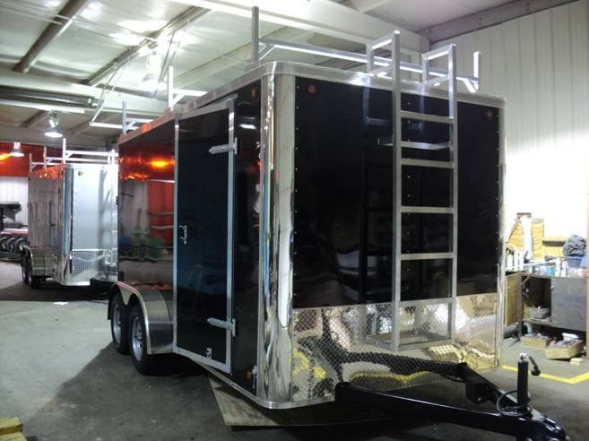 Trailers Plus Peterborough >> Cargo Trailer Camper Conversion Kitchen Car Tuning Travel