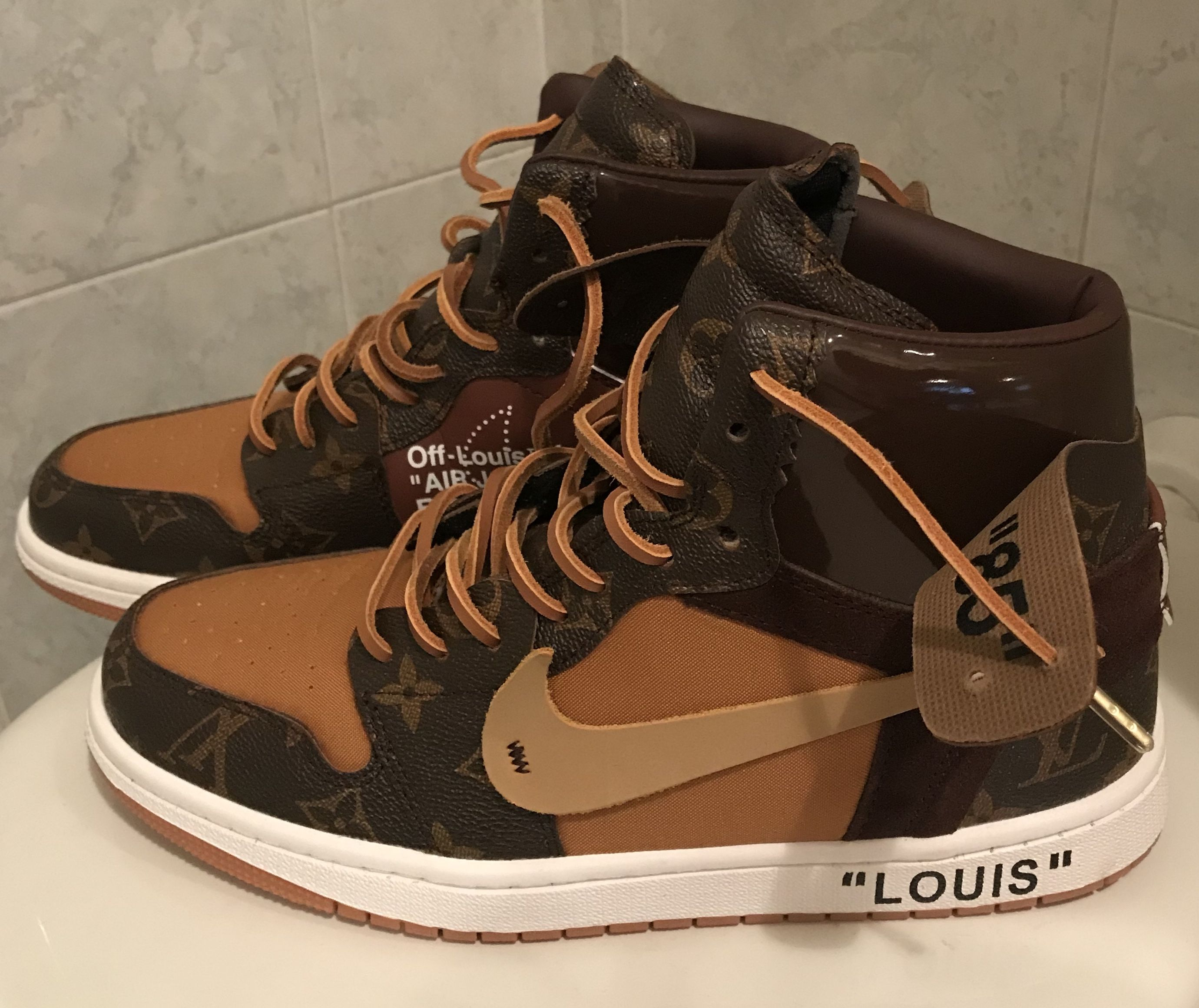 f813bdf0ff6 NIKE Off-Louis Air Jordan 1 x Off-White x Louis Vuitton by CEEZE (Custom  sneakers)