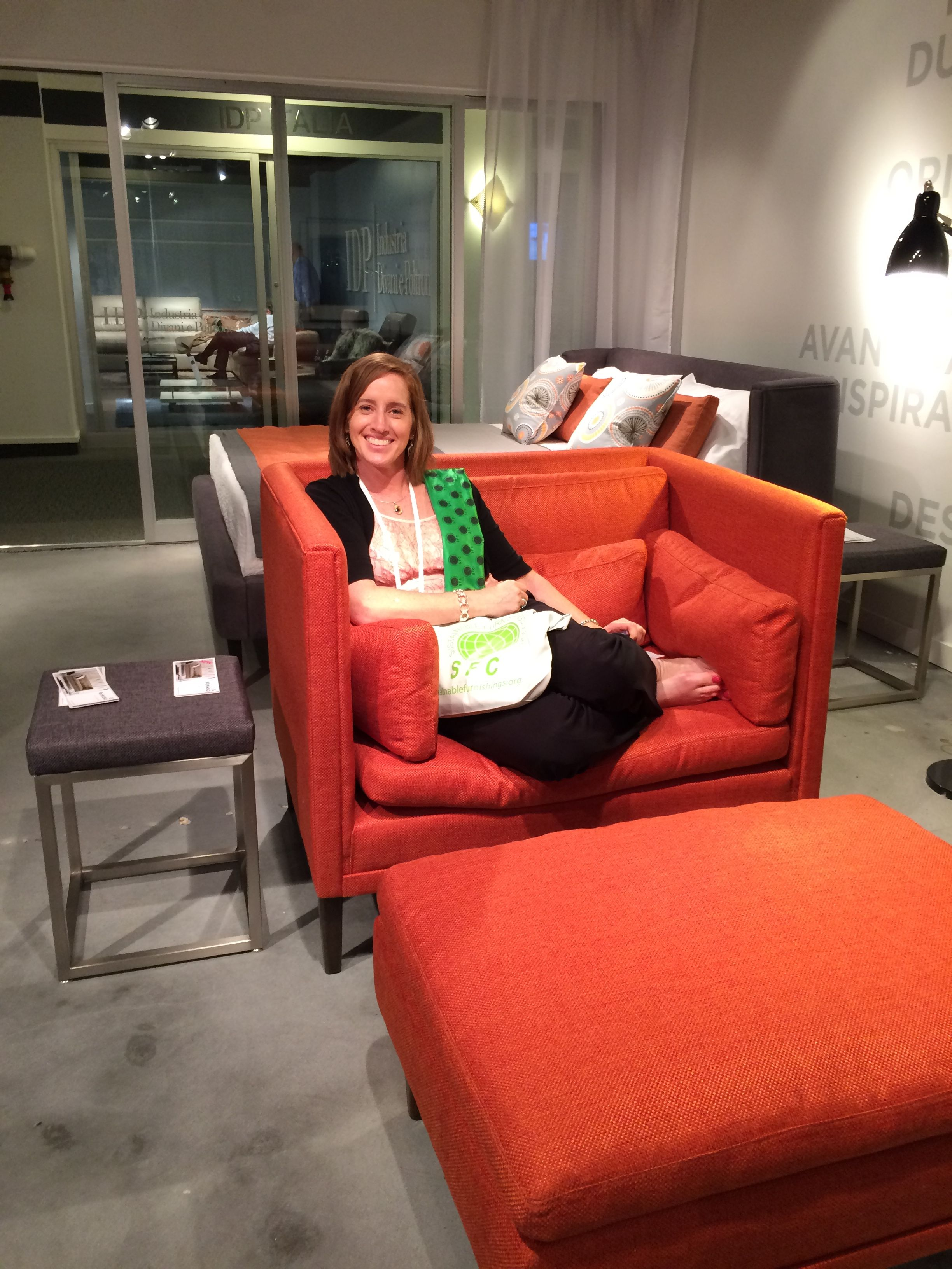 Janet Mckenzie Of The Sustainable Furnishings Councils Enjoys The