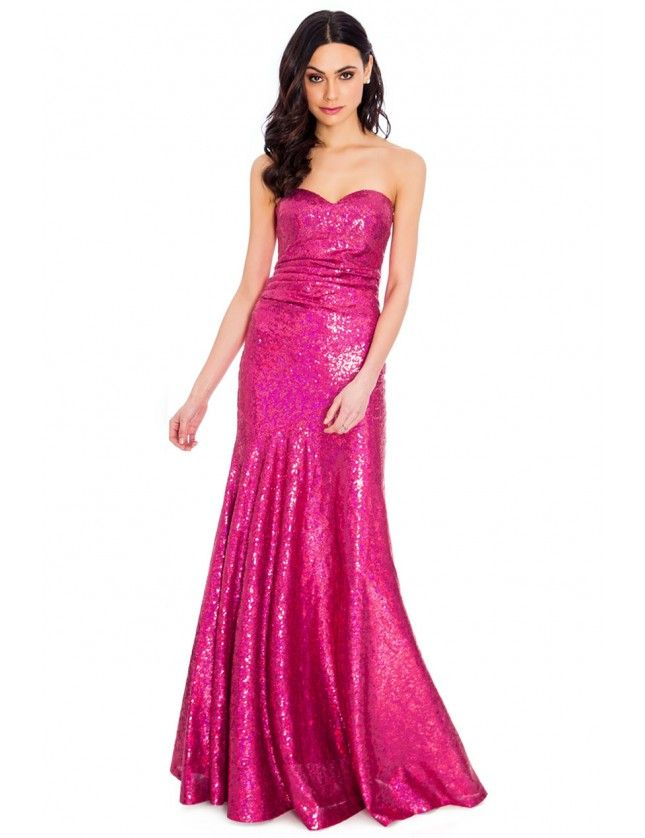 Strapless Sequined Maxi Dress | NEW IN? YES PLEASE | Pinterest