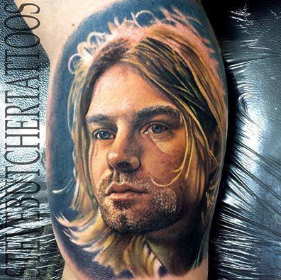 Amazing Kurt Cobain Portrait by Artist Steve Butcher ...
