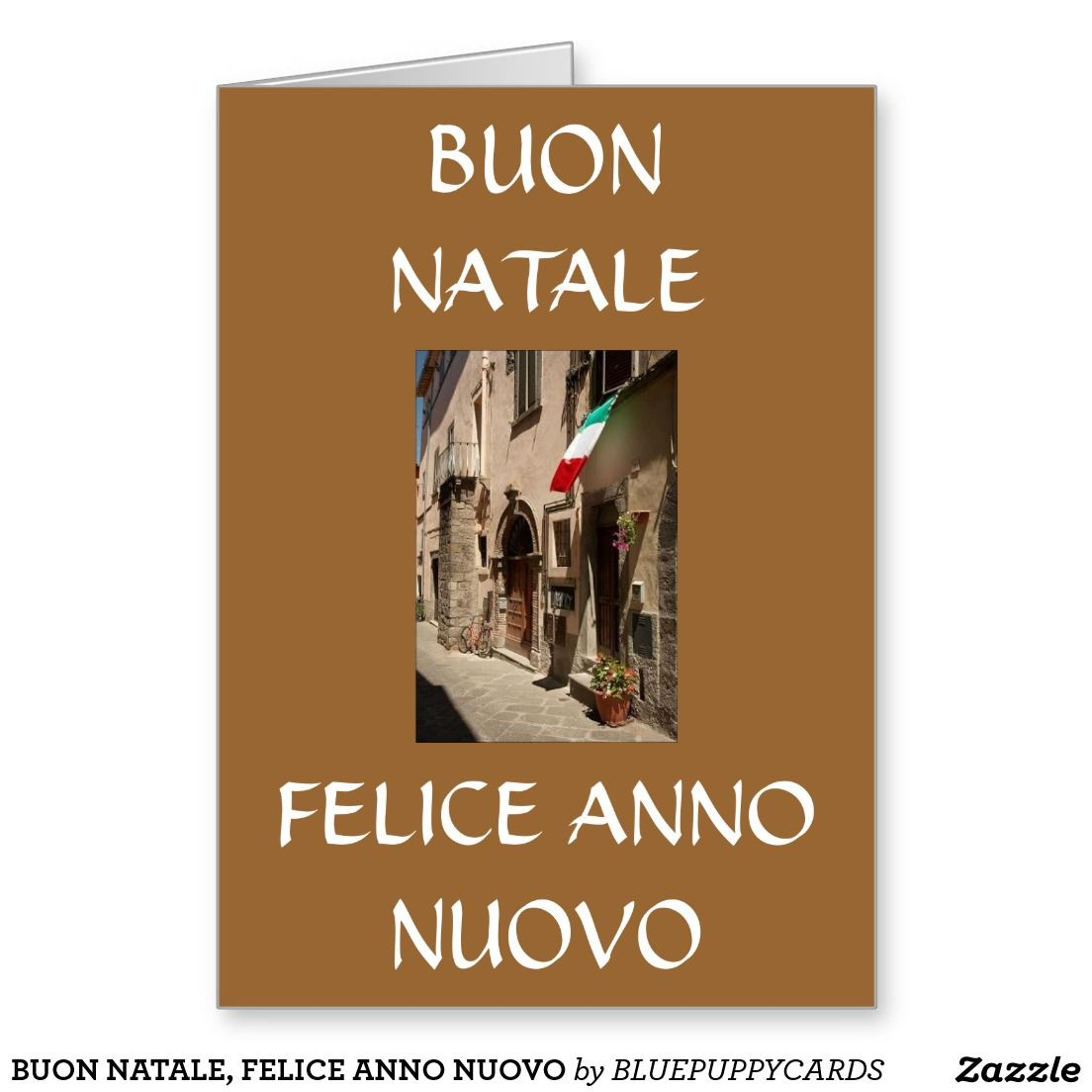 BUON NATALE, FELICE ANNO NUOVO GREETING CARD