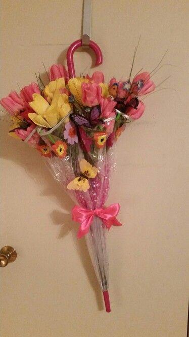 Umbrella/Flower door hang