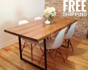 Modern Dining Table Reclaimed Wood Dining Table by AtelierEben