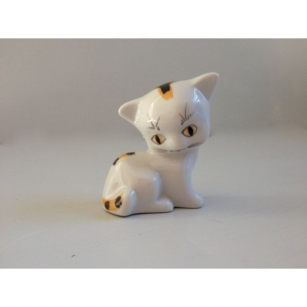 Cat Figurine (€9,20) ❤ liked on Polyvore featuring home, home decor, black cat figurine, black home decor, cat home decor, japanese ivory figurines and gold home decor