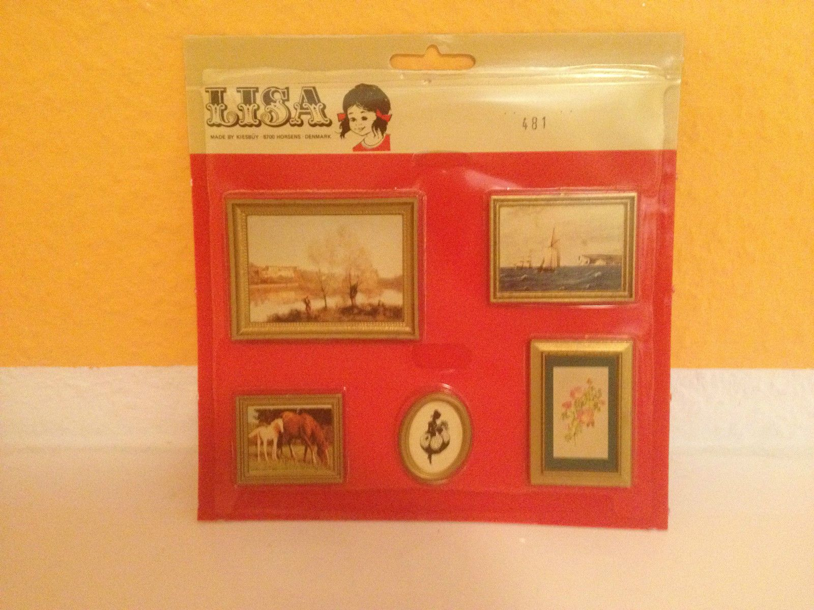 Lisa Bilder Set Gemälde Puppenstube Puppenhaus Vintage New Neu mint ...