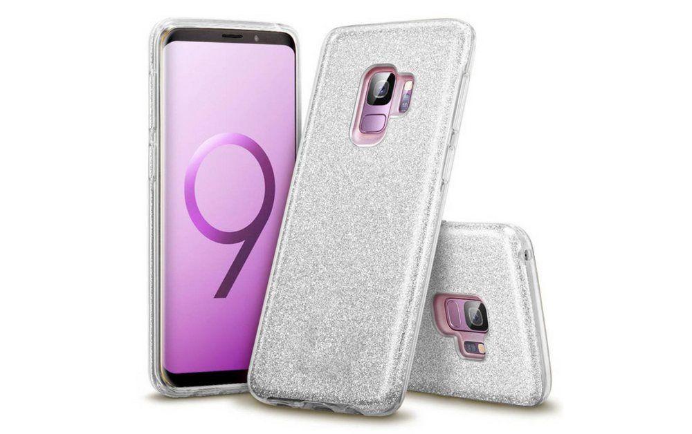 Finoo Smartphone-Hülle »3 in 1 Glitzer Handyhülle für das Samsung Galaxy S9 in Silber« Samsung Galaxy S9 online kaufen | OTTO