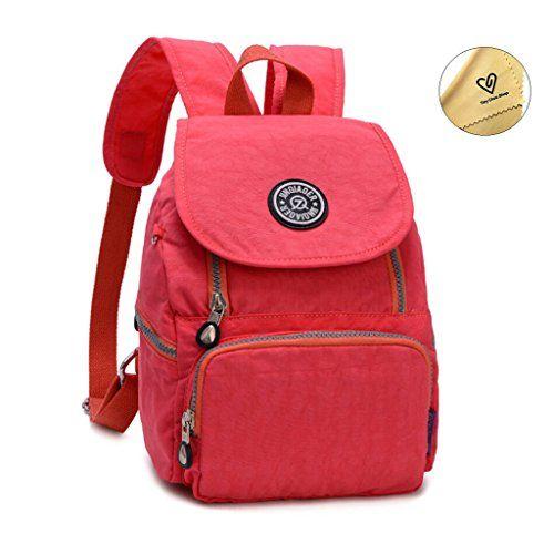 Tiny Chou Mini Waterproof Nylon Backpack Casual Lightweight Strong ...