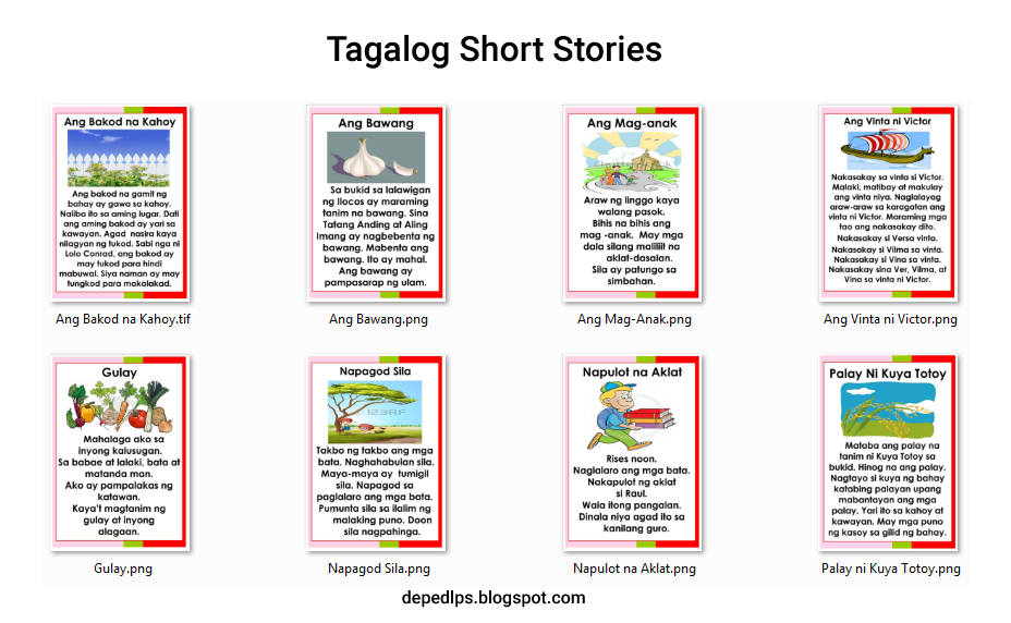tagalog short stories daily lesson plan lesson plans summative test school forms