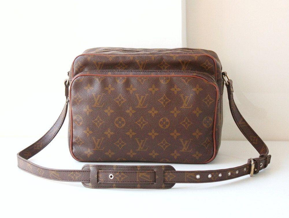 Vintage Louis Vuitton Monogram Nil Maroon Shoulder Cross Body Bag Authentic Purse By Hfvin On Etsy Vintage Louisvuitton Monogram Nil Vintage Louis Vuitton
