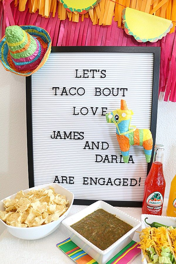 Let's Taco Bout Love Engagement Party Ideas and More! #engagementpartyideasdecorations