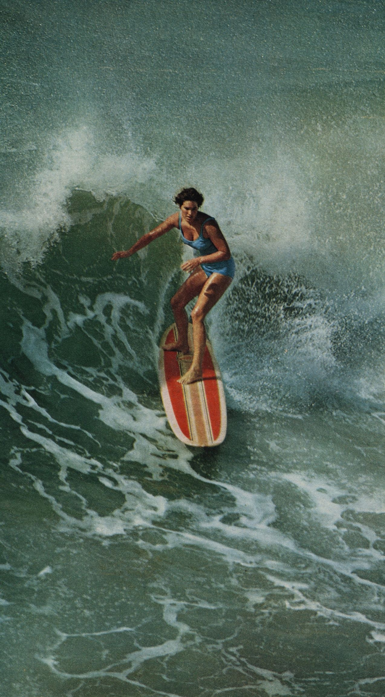Canvases of girl surfing by land of lost content 1500mm x