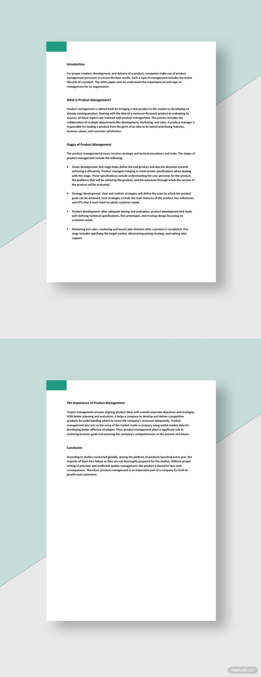 Product Management White Paper Template Free Google Docs Word Template Net Paper Template Paper Template Free Document Templates