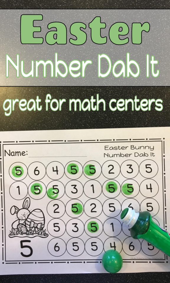 Easter Bunny Number 0 - 25 Dab It Worksheets - S | Pinterest
