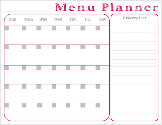 Seasons Of A Homemaker Free Printable  Monthly Menu Planner With