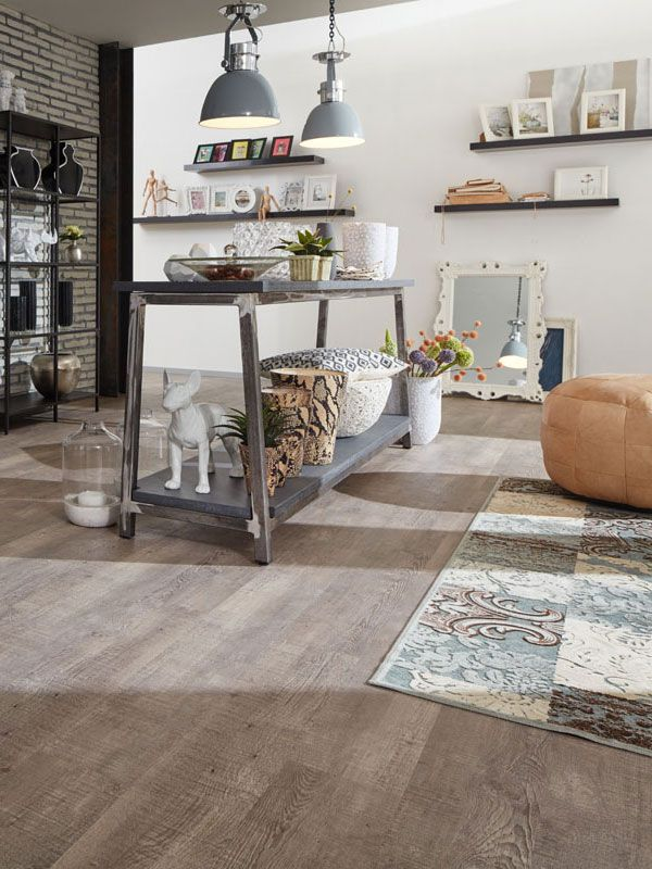 Modern designboden eiche vinylboden cottage oak grey for Nostalgie wohnzimmer