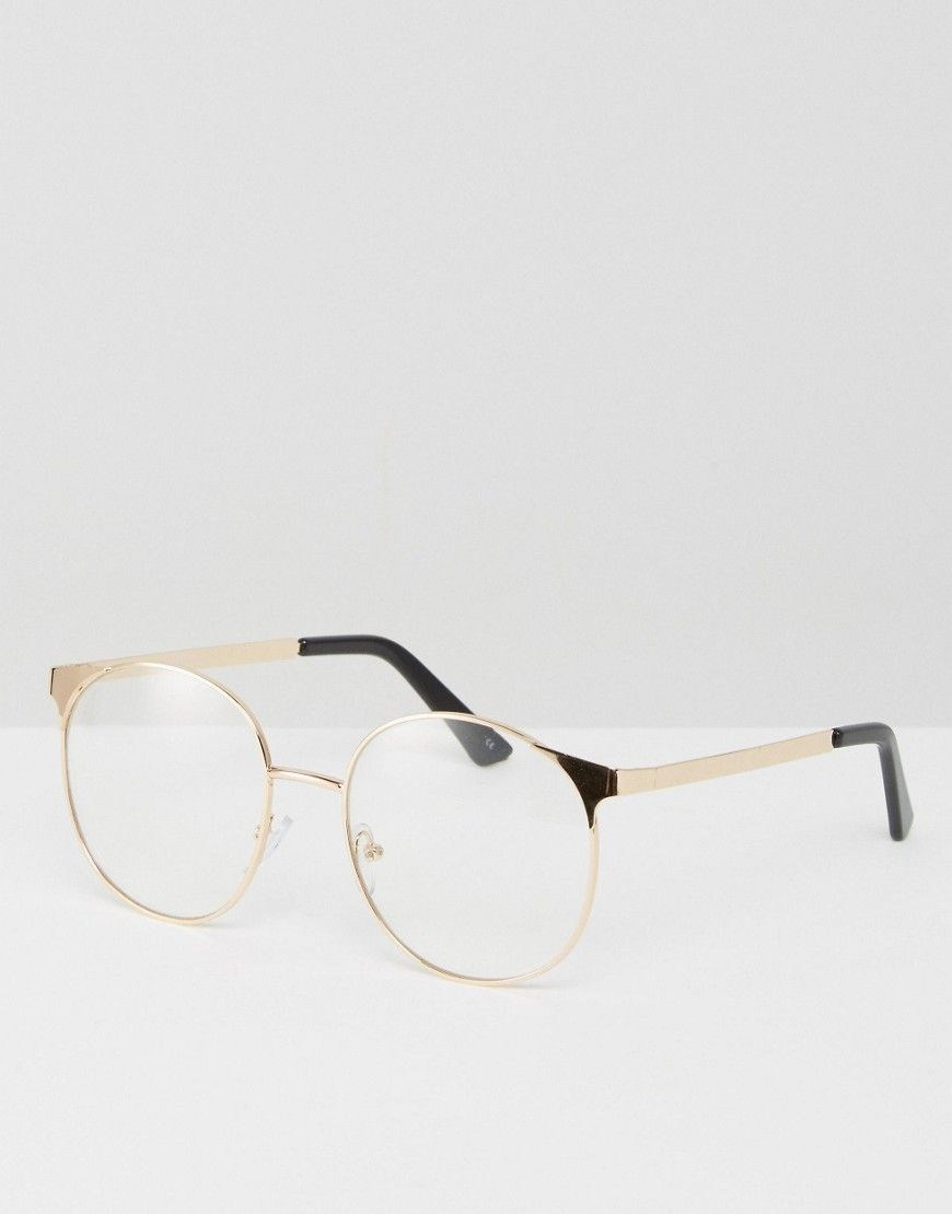 e78b08bb5b5 DESIGN geeky metal round clear lens glasses in 2019