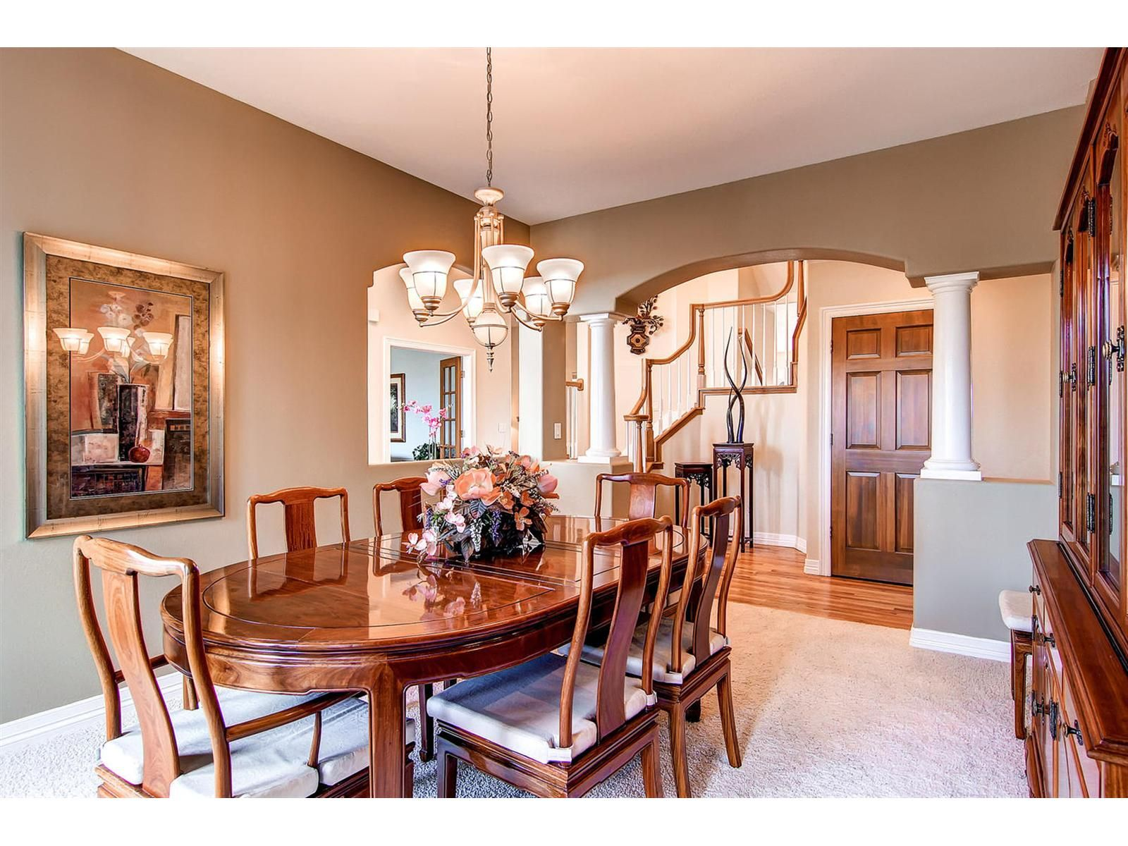 The Formal Dining Room Has A Grand Entrance And Direct Access To Front Door
