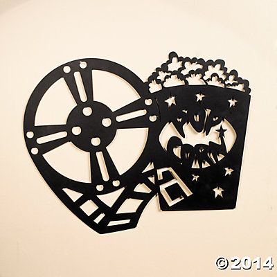 Silhouette Movie Night Wall Decoration