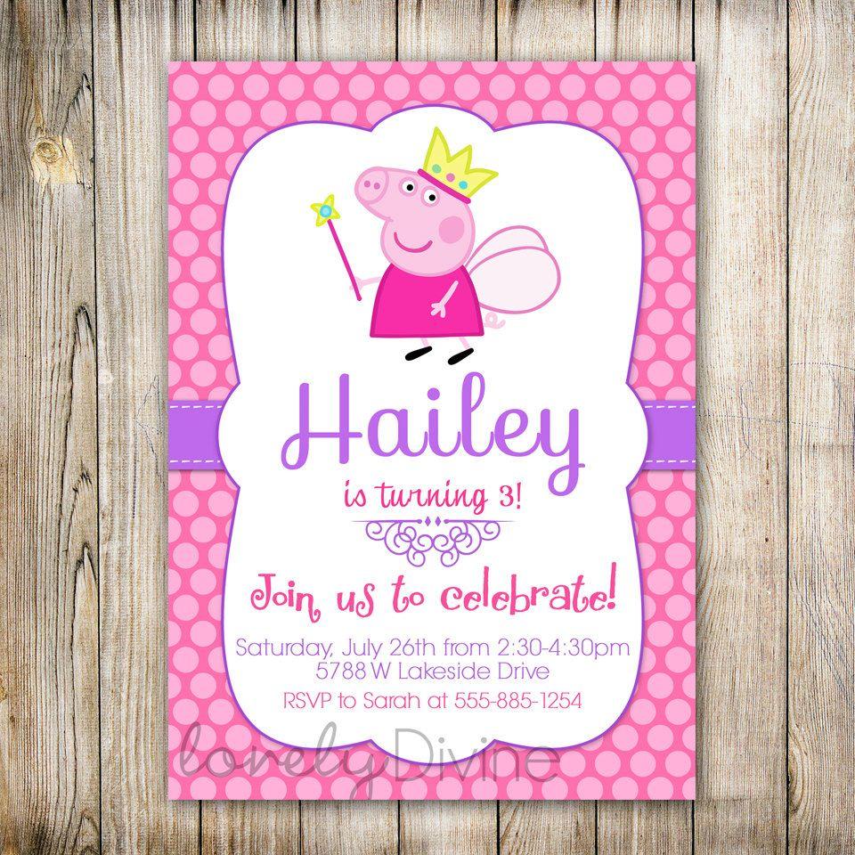 Peppa Pig Printable Birthday Decorations ~ Peppa pig birthday invitations perth new