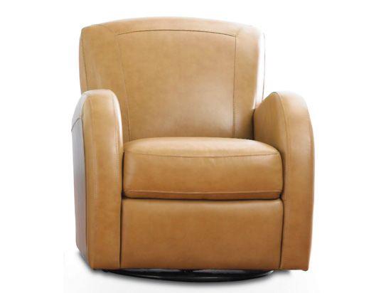 Superbe Lino Swivel Chair Tan Plummer Furniture