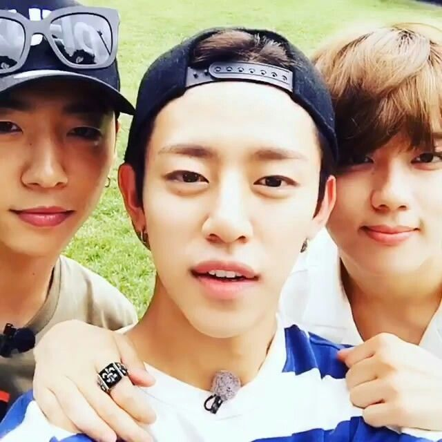 Yongguk, Daehyun, and Youngjae