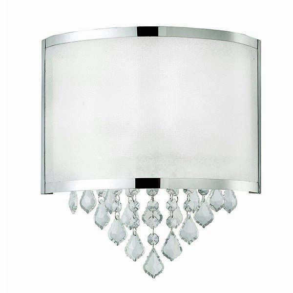 "Canarm | Reese, IWL435A01CH, 1 Lt Wall Sconce,Sparkle Shade with Crystals, 60W Type C, 11 1/4"" W x 12 1/2"" H x 4 1/4"" D"