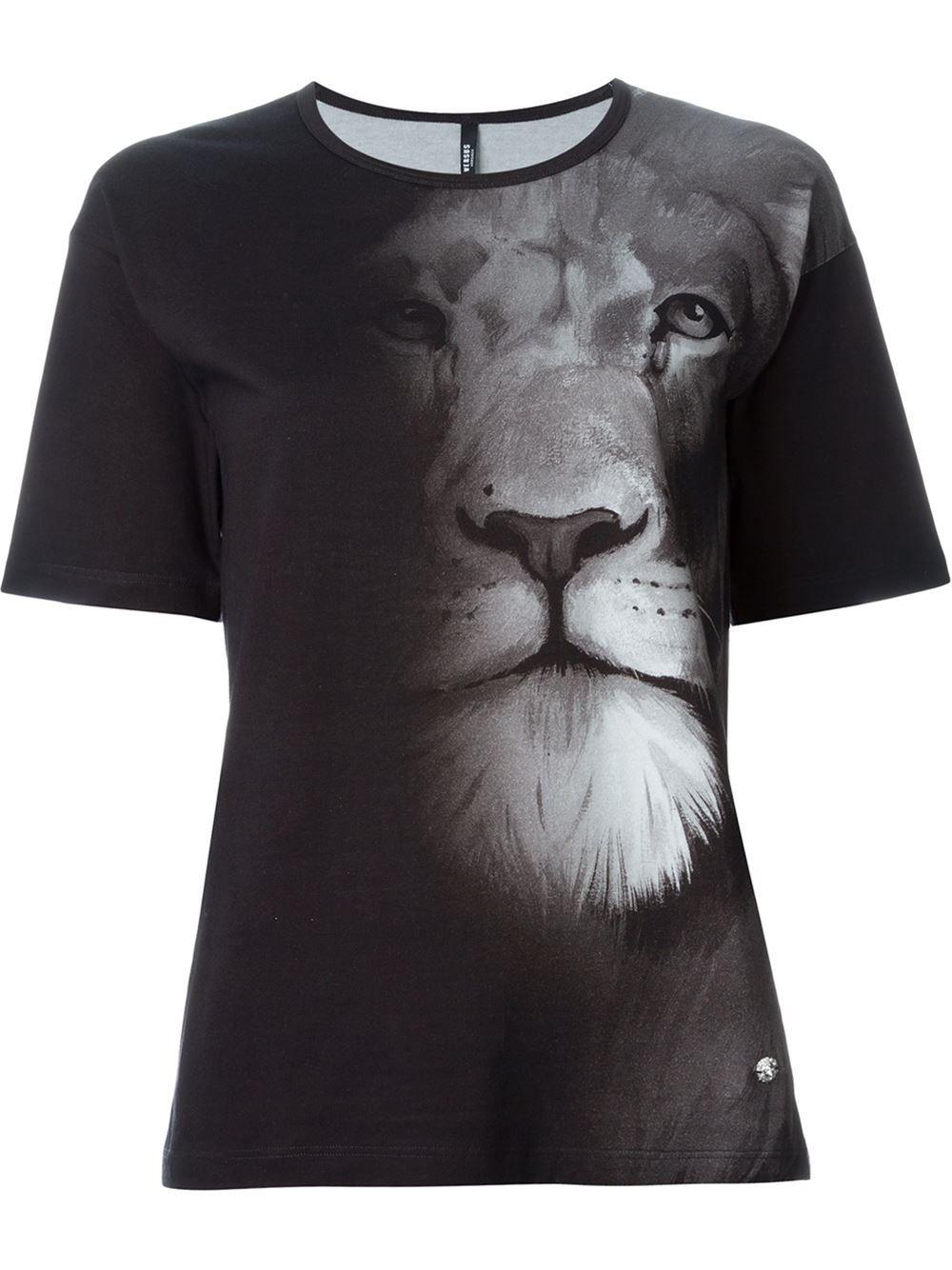 e29bc3adf Versus Camiseta Com Estampa De Leão - Versus Versace - Farfetch.com ...