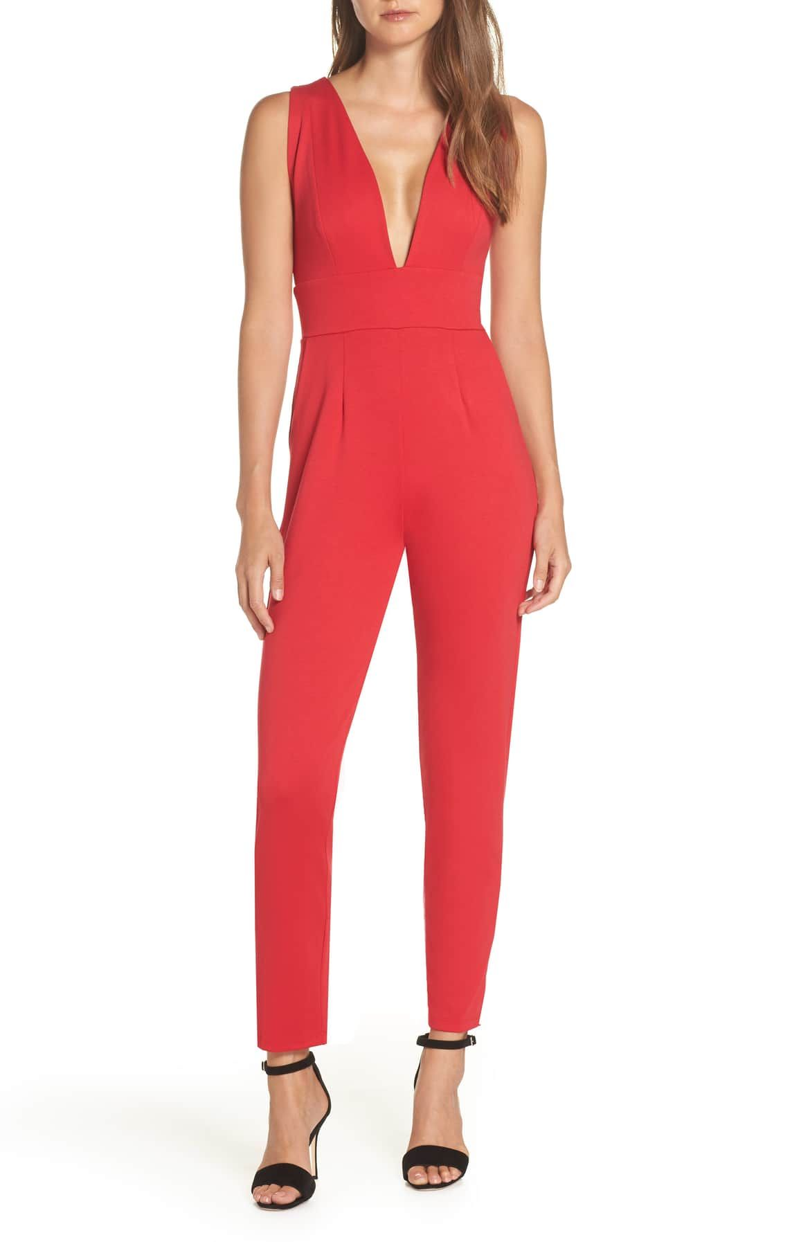 b59282243e Plunge Neck Jumpsuit