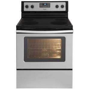 Whirlpool 4 8 Cu Ft Electric Range With Self Cleaning Oven In
