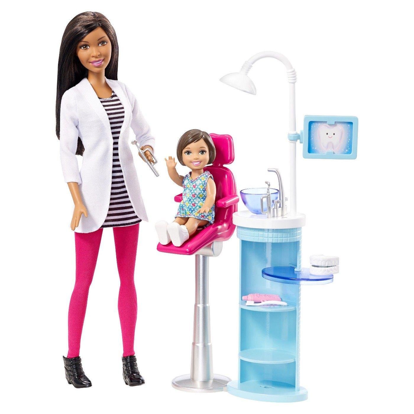 Barbie® Careers Dentist AfricanAmerican Doll & Playset